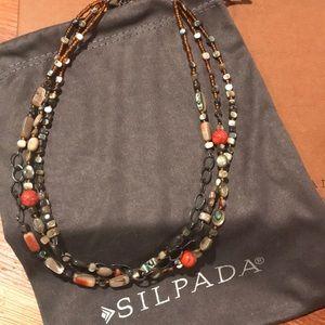 Silpada Designs 3 strand necklace